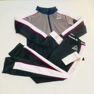 Reebok Track Suit Girl size 4T Athletic Outfif